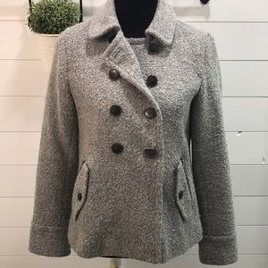 GAP Gray Wool  Pea Coat sz M